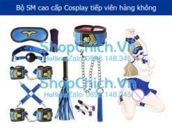 bộ đồ 9 món cao cấp cosplay tiếp viên